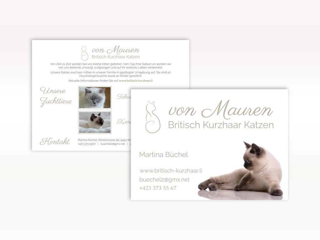 Gestaltung von Flyern für die Katzenzucht für Britisch Kurzhaar von Mauren