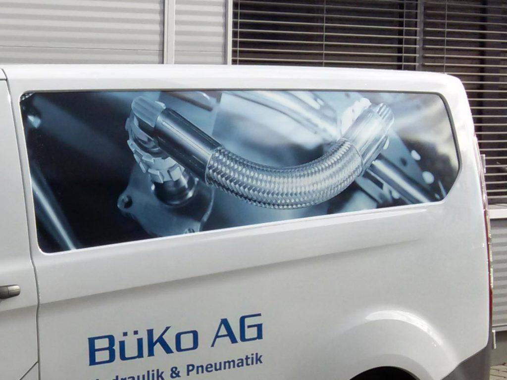 Aufdruck auf dem Fahrzeug - BüKo AG Hydraulik & Pneumatik