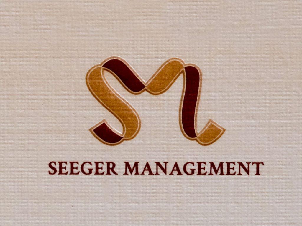 Druck des Seeger Management Logos