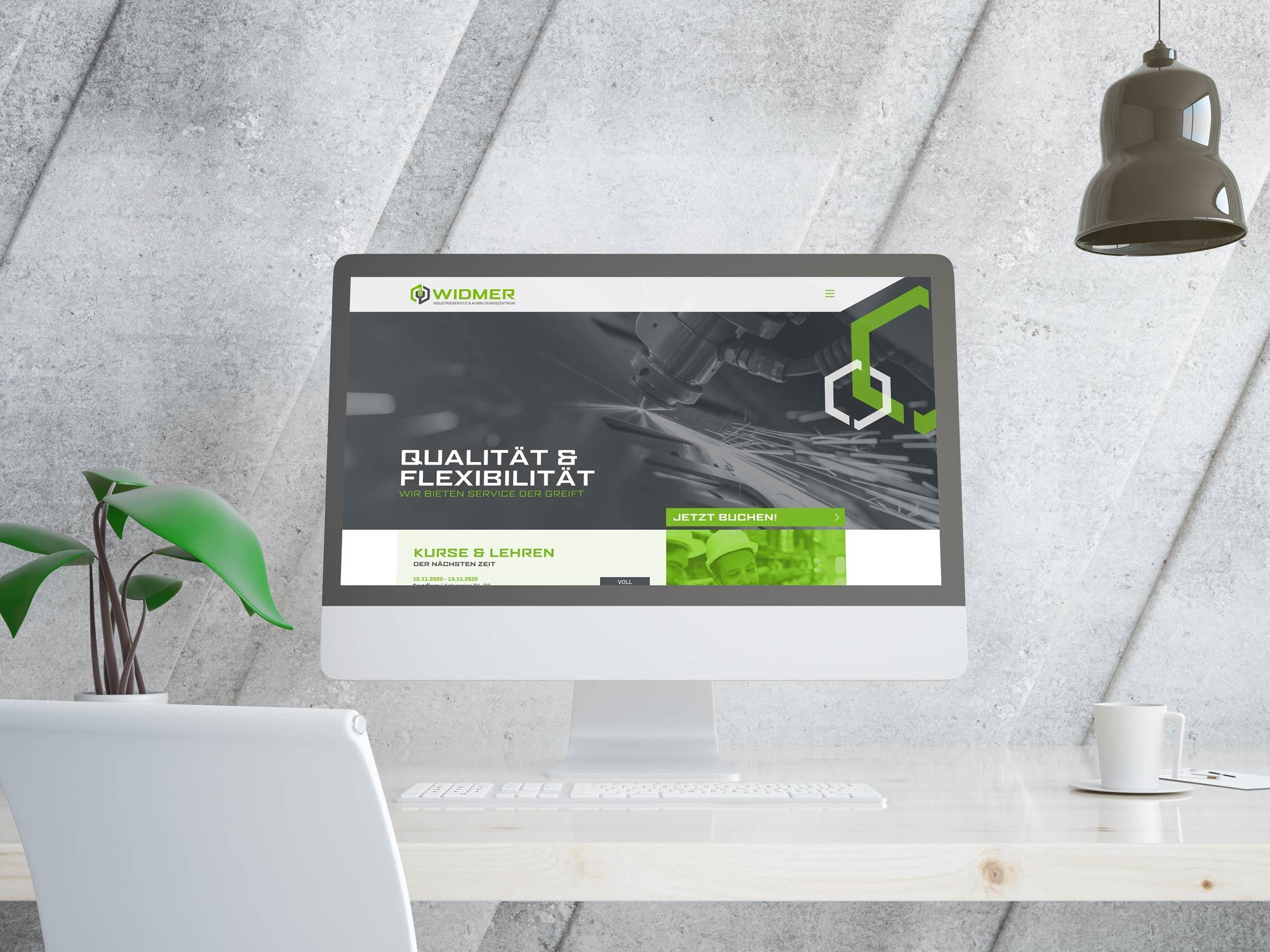 Webseite der Widmer Industrieservice AG