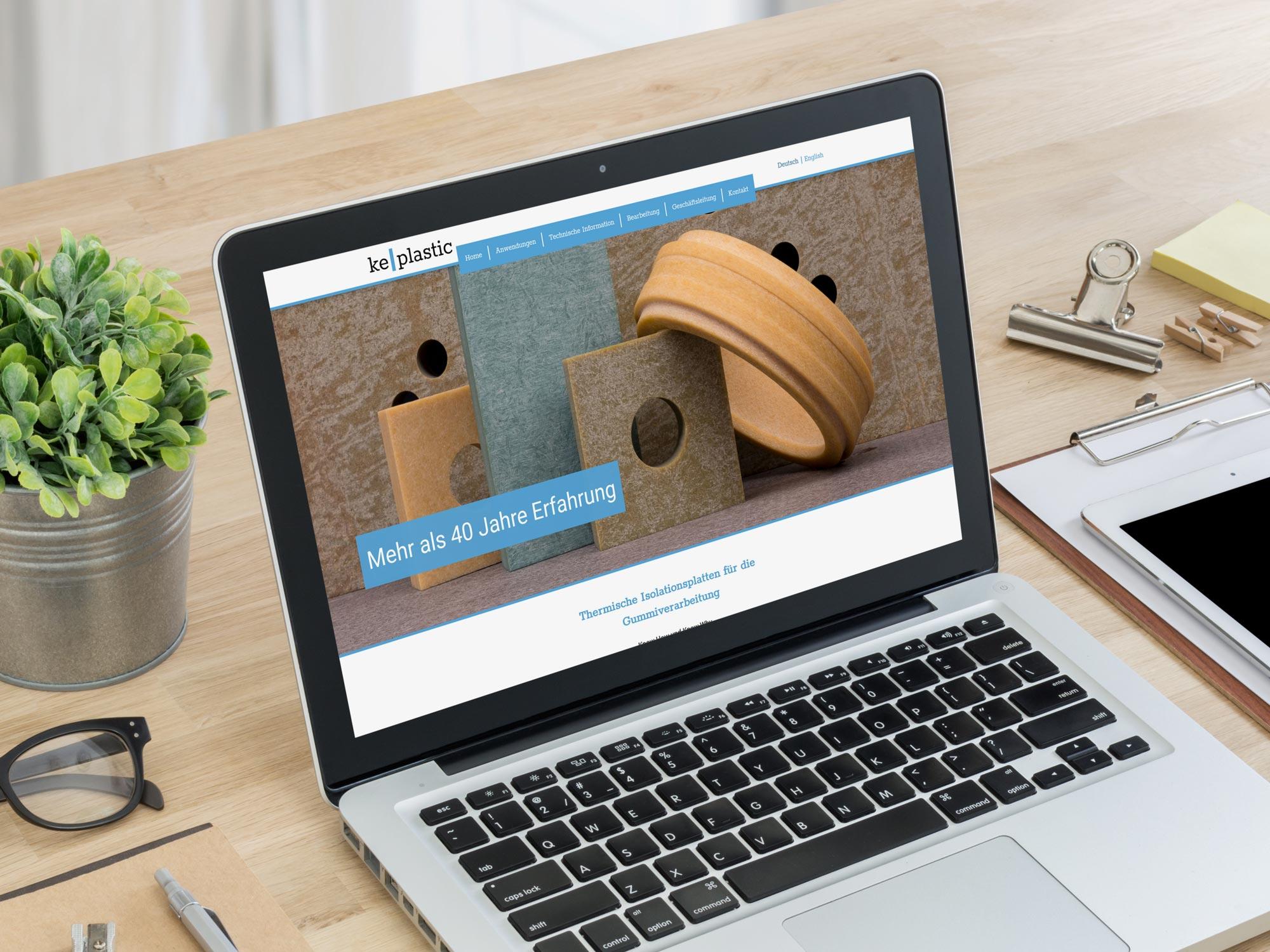 Webdesign für die KE Plastic GmbH