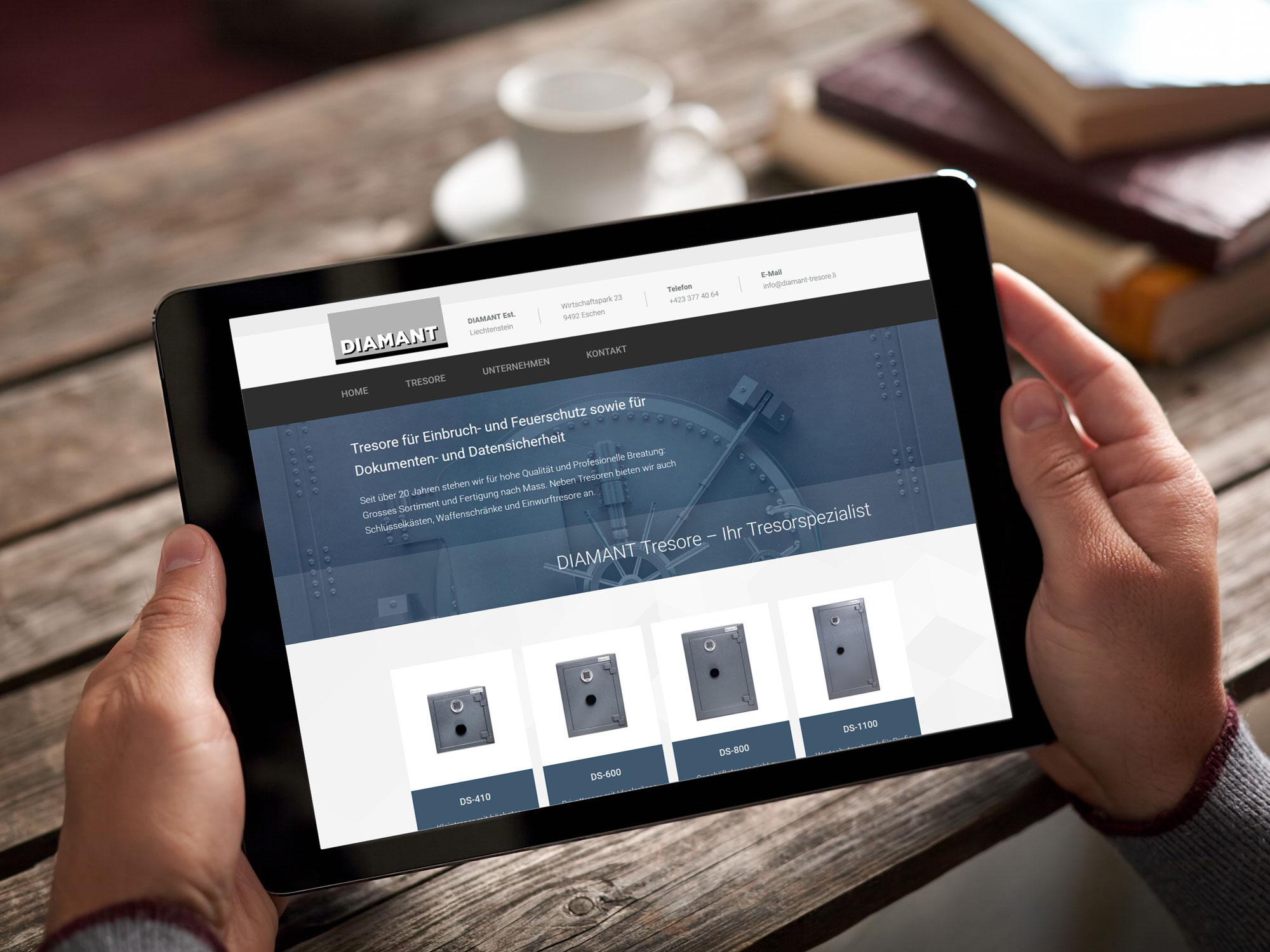 Webdesign für die DIAMANT Est.