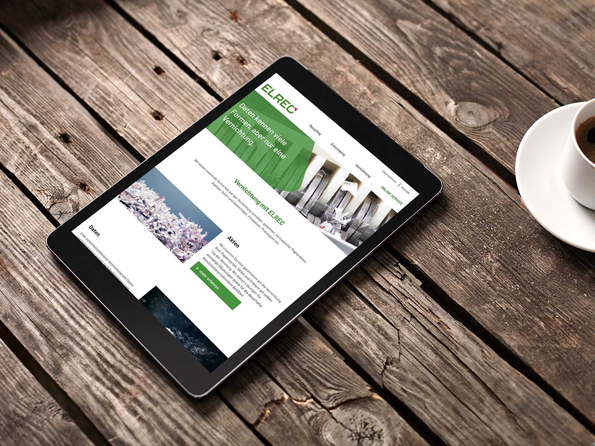 Elrec AG Webseite