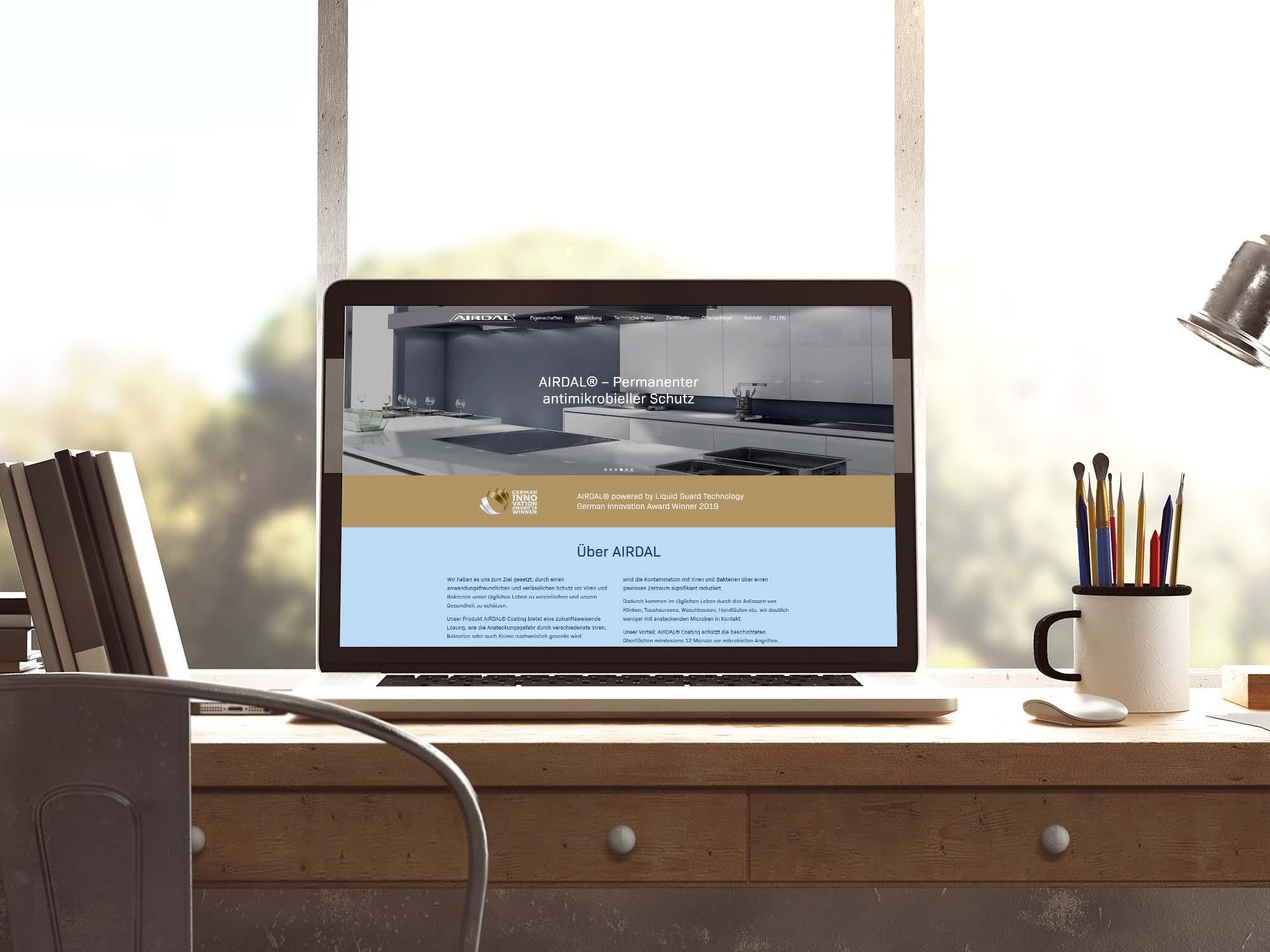 Programmierung der AIRDAL Webseite