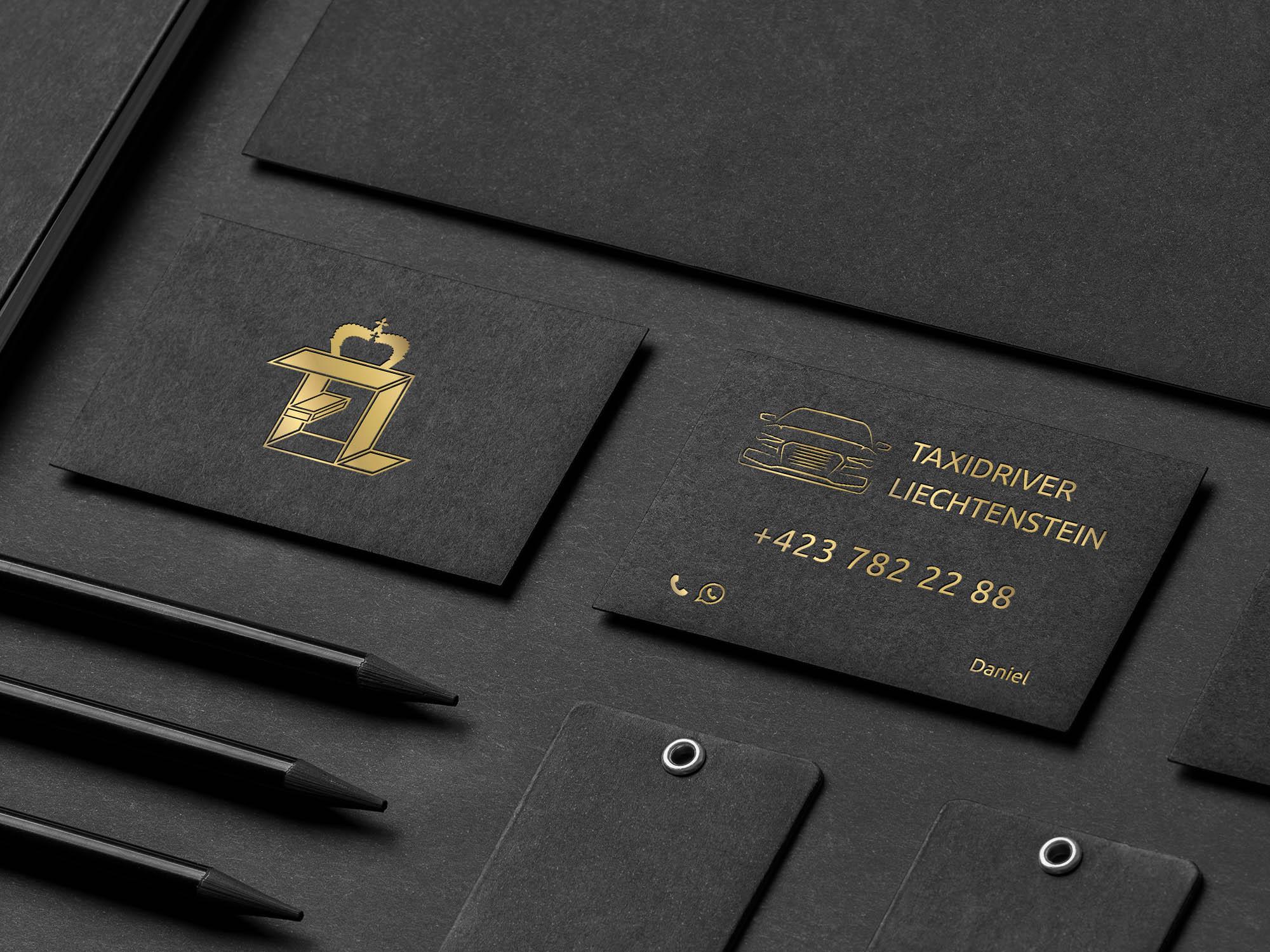 Darstellung des Visitenkartendesigns für die TaxiDriver GmbH